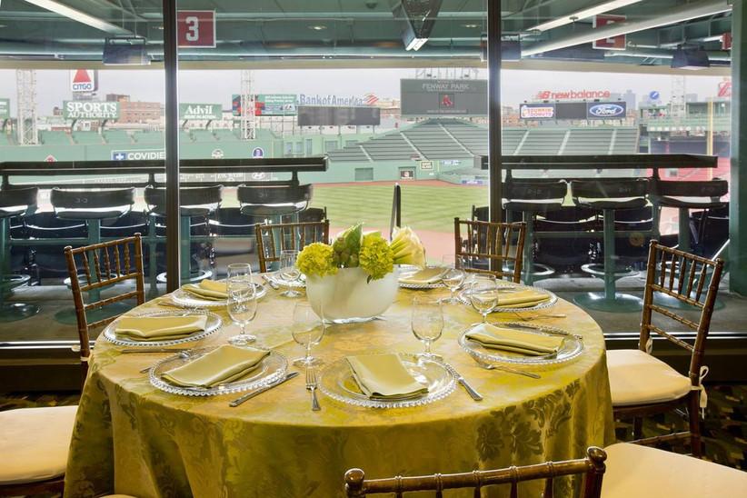 wedding reception at fenway park boston