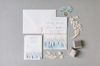 27 Winter Wedding Invitations That Are Modern and Chic