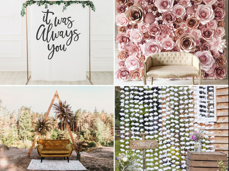 19 Chic Wedding Photo Backdrops for Frame-Worthy Pictures