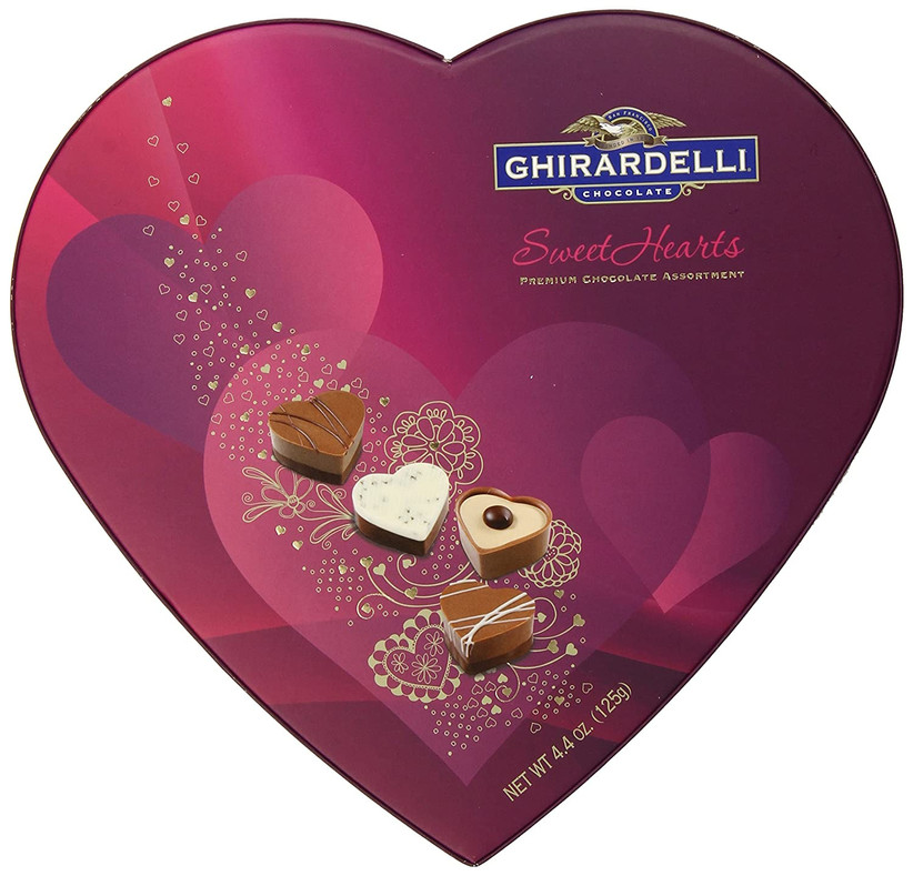 heart shaped chocolate gift box
