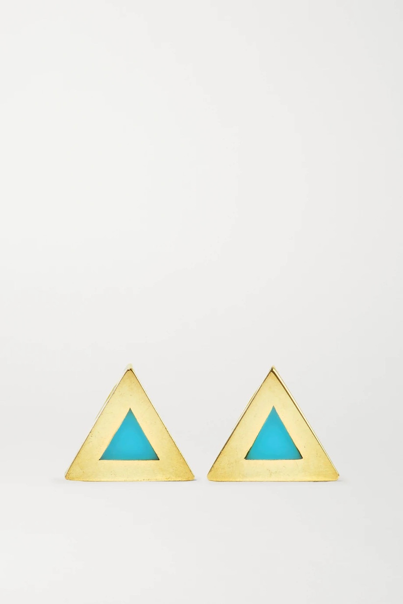 gold earrings for 11th year wedding anniversary gift