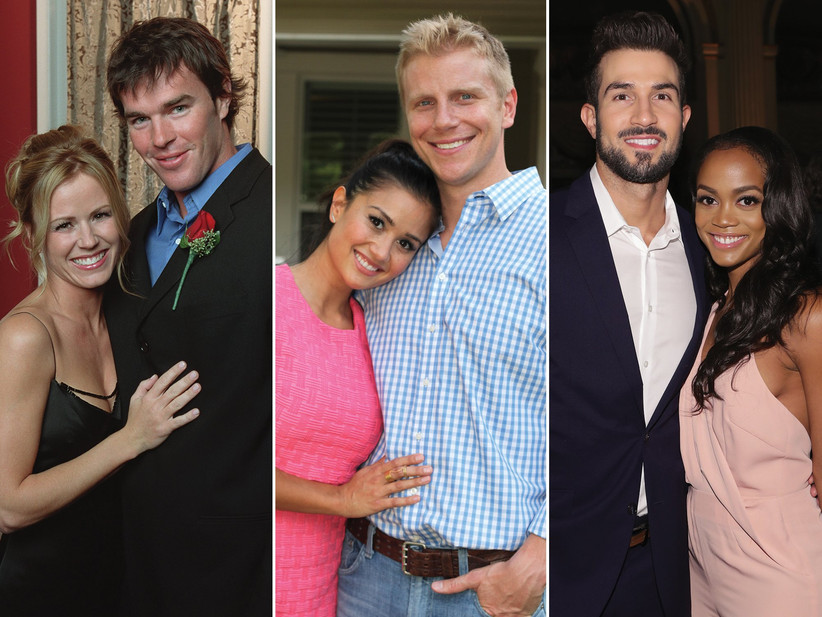 Trista Rehn and Ryan Sutter; Sean Lowe and Catherine Giudici; Rachel Lindsay and Bryan Abasolo