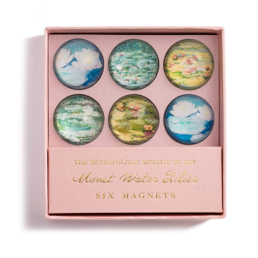 Monet art-inspired fridge magnets gift for couple's new home