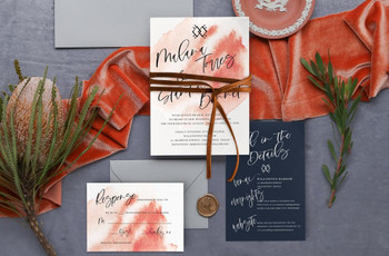 25 Unique Fall Wedding Invitations Your Guests Haven't Seen Before