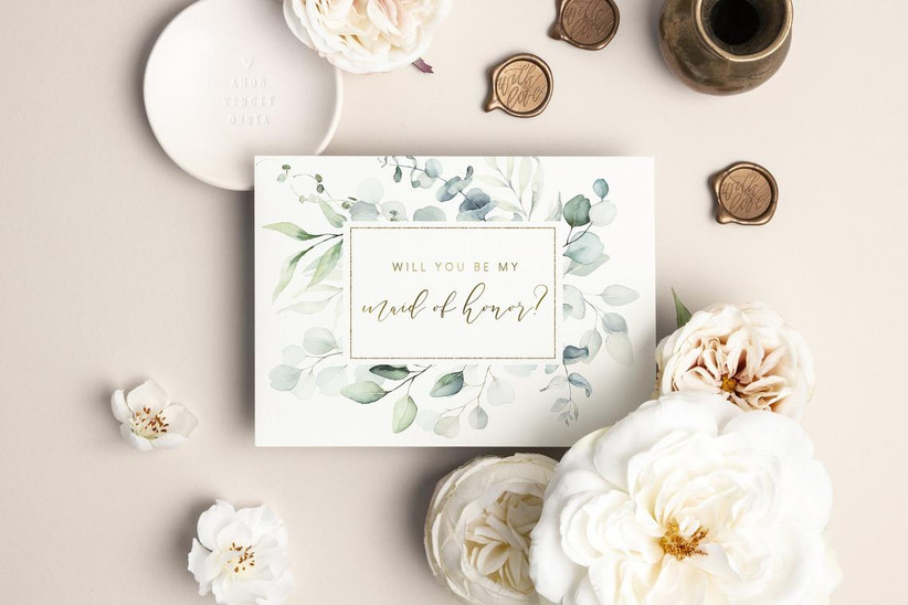 Will You Be My Maid of Honor proposal card