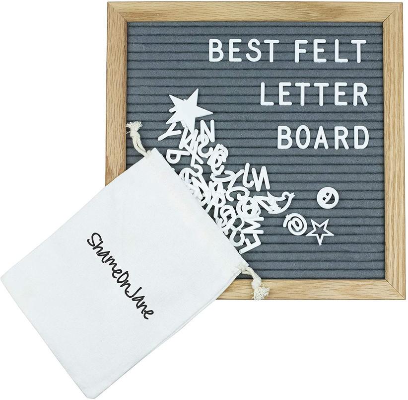 gray felt letterboard