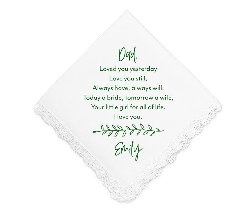 father of the bride gift handkerchief