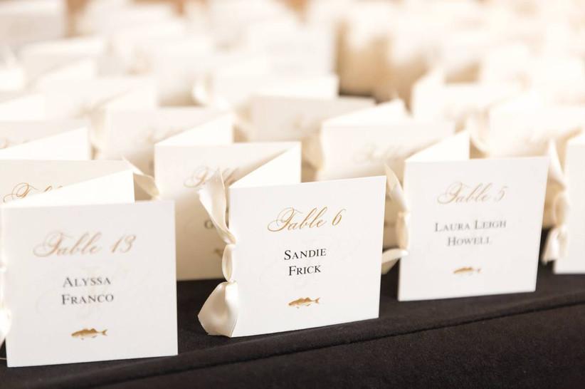 classic wedding escort cards