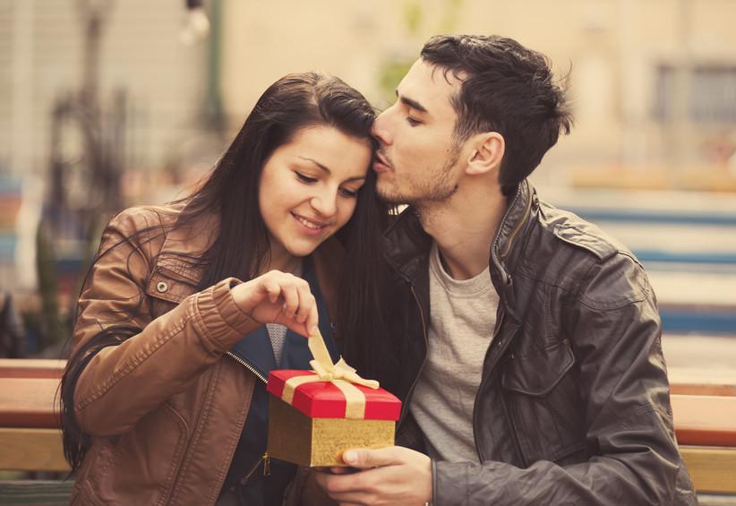 couple opening gift