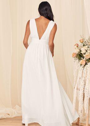 Heavenly Hues White Maxi Dress, Lulus Bridal