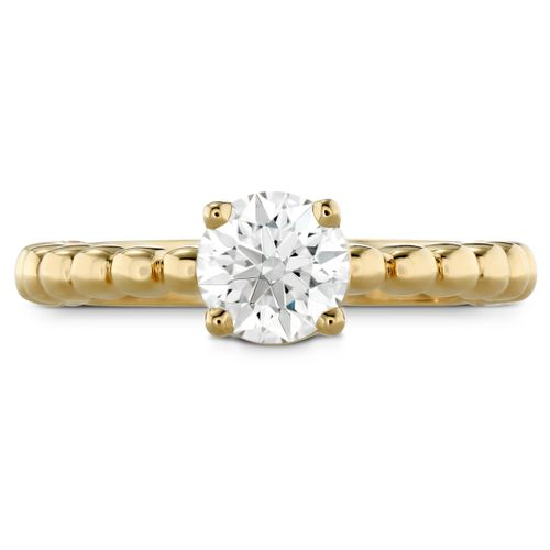 HOF Signature Beaded Solitaire, Hearts on Fire