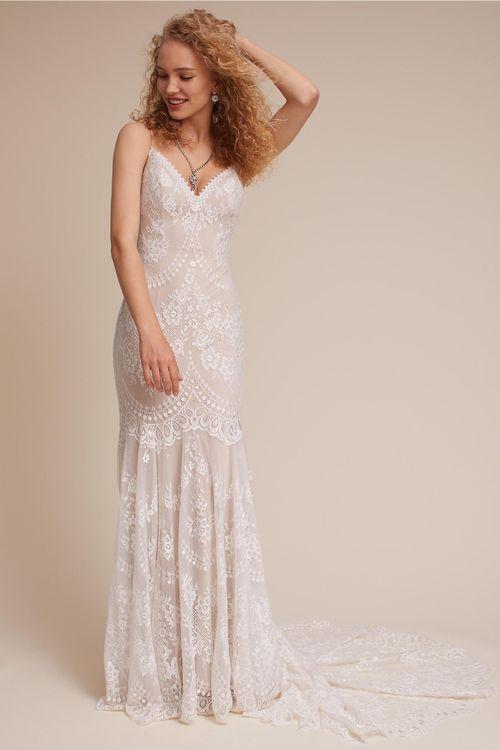 BHLDN Cascading Lace Gown, BHLDN