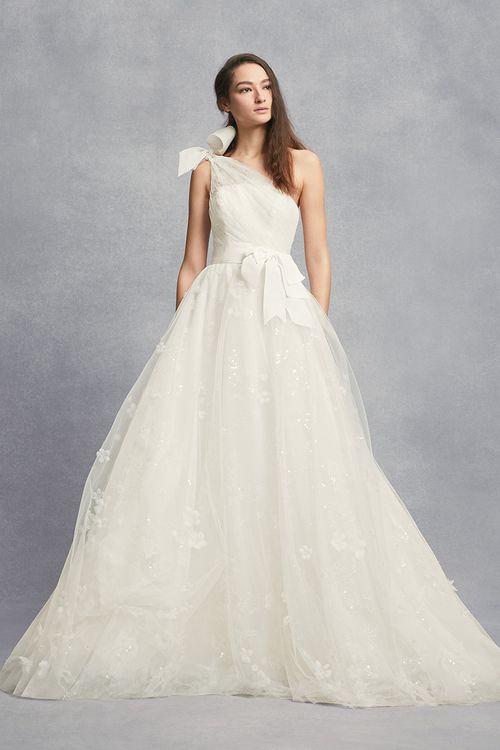 White by Vera Wang Style VW351432, David's Bridal