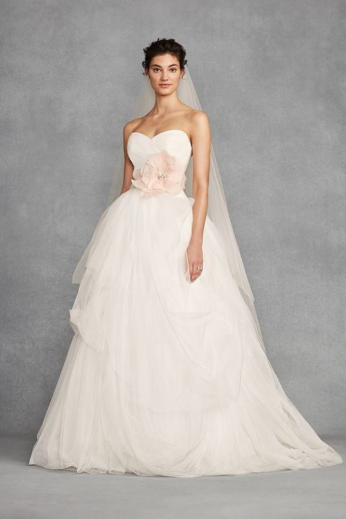 White by Vera Wang Style VW351339, David's Bridal