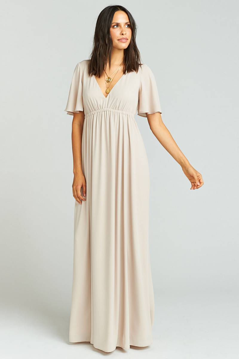 3259401477542 Emily Maxi Dress - Show Me the Ring Crisp A-line Bridesmaid Dress by Show  Me Your Mumu - WeddingWire.com