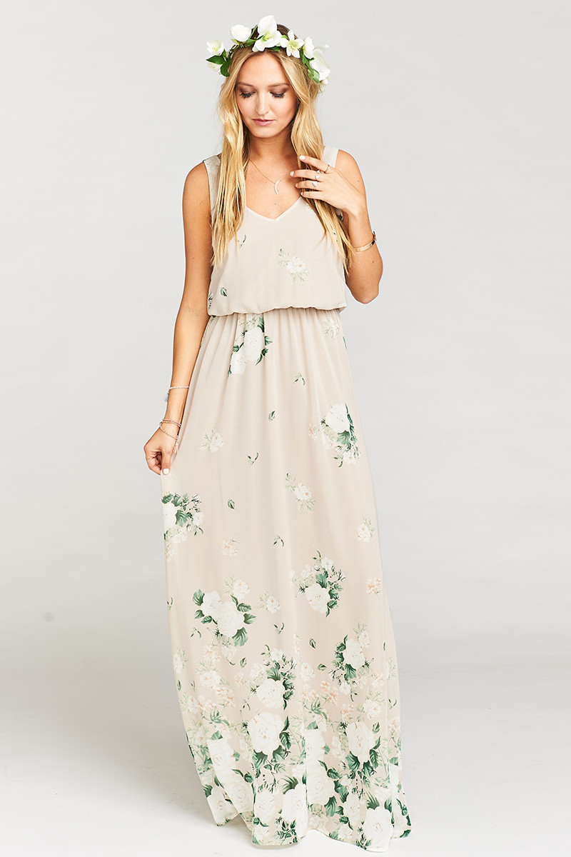 116fd65efa0 Kendall Maxi Dress - Bouquet Toss A-line Bridesmaid Dress by Show Me Your  Mumu - WeddingWire.com