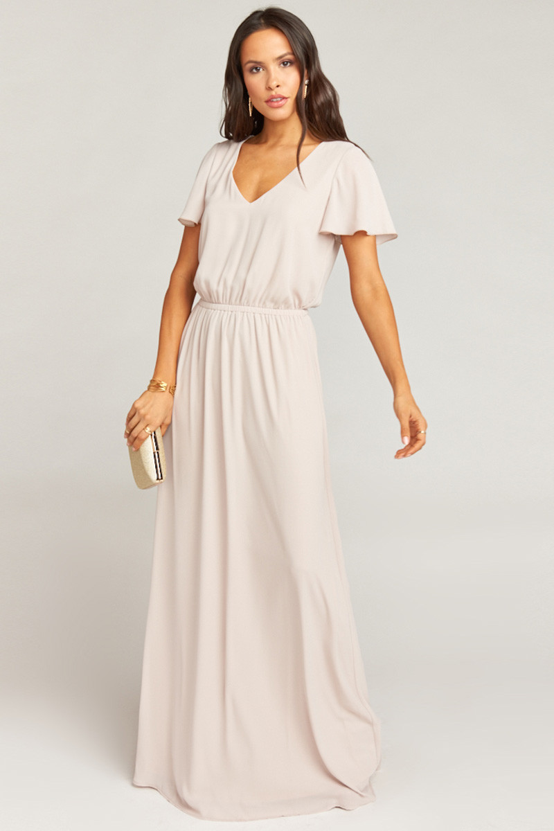 b97e3cdb8f9 Michelle Flutter Maxi Dress - Show Me The Ring Crisp A-line Bridesmaid Dress  by Show Me Your Mumu - WeddingWire.com