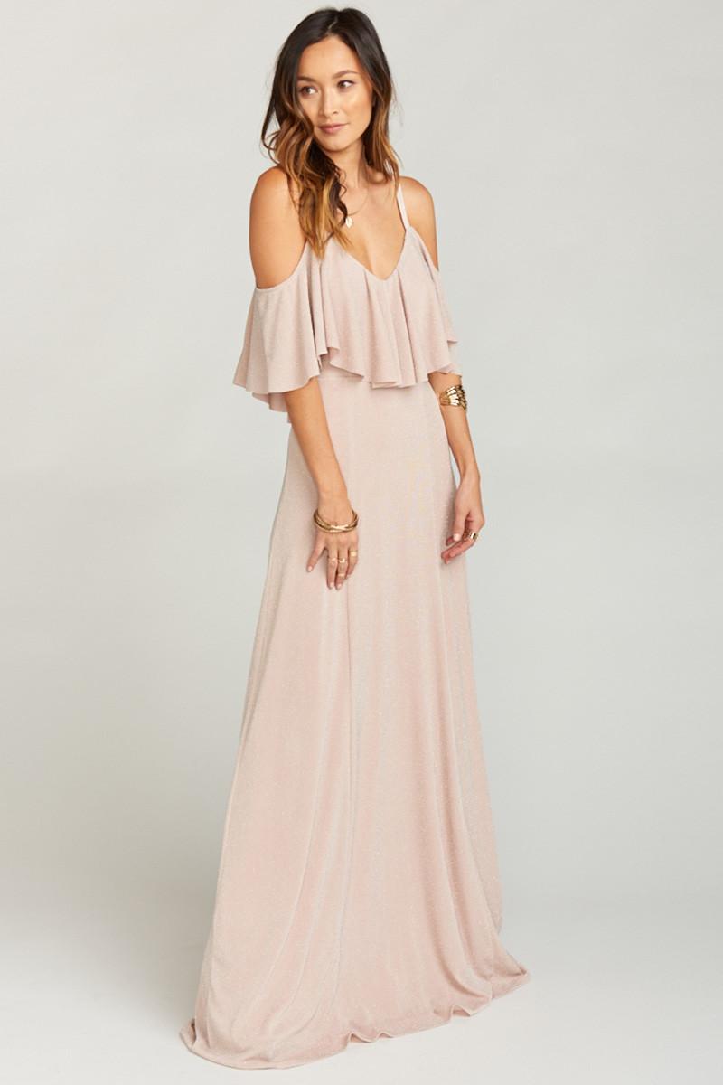 bd0cf6738ff4 Renee Ruffle Maxi Dress - Dancing Queen Shine Blush A-line Bridesmaid Dress  by Show Me Your Mumu - WeddingWire.com