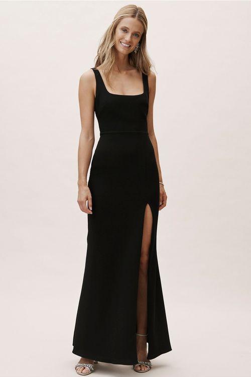 Adena Dress - Black, BHLDN Bridesmaids