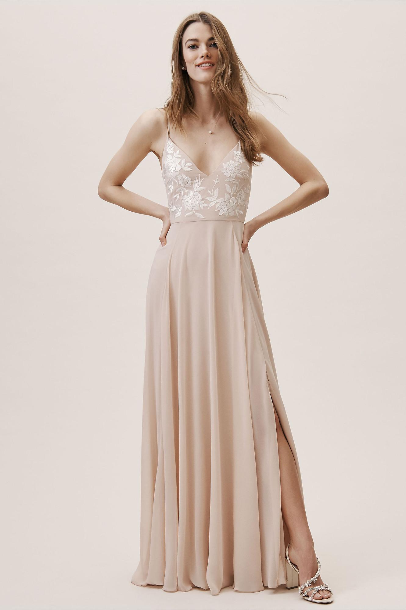 064309ead10 Sadia Dress - Blush A-line Bridesmaid Dress by BHLDN Bridesmaids ...