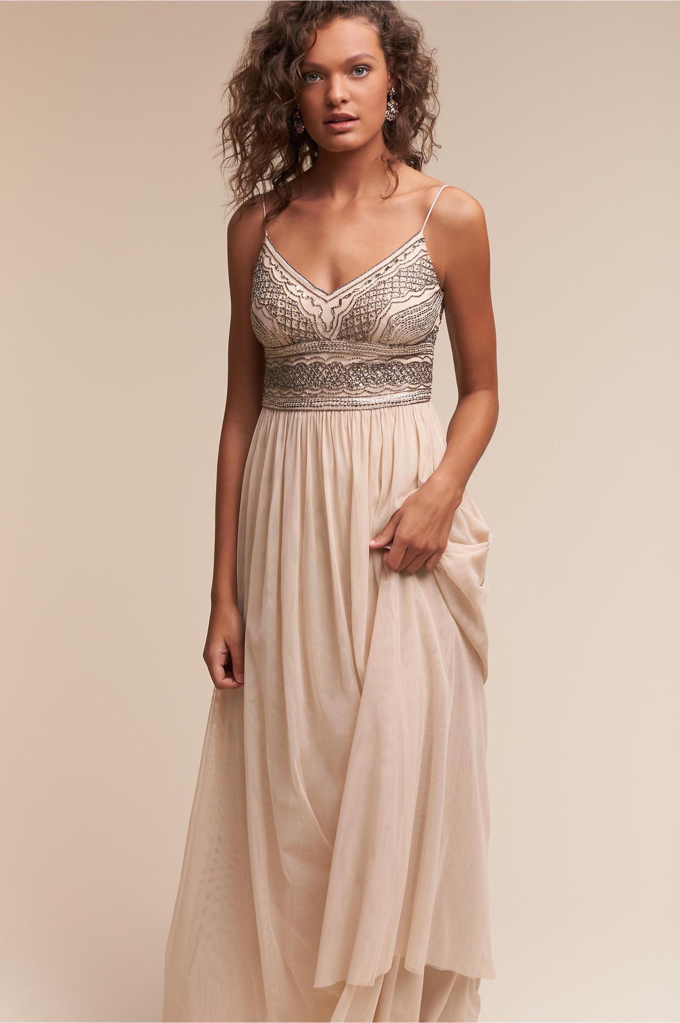 Adrianna Papell Sheath Bridesmaid Dress by BHLDN ...