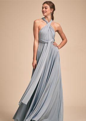 Ginger Convertible Maxi - Dusty Blue, BHLDN Bridesmaids