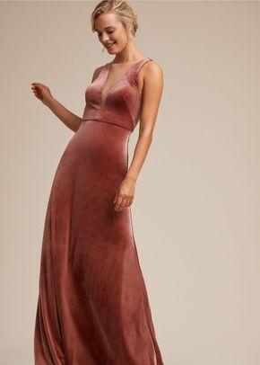 Logan Velvet Dress - English Rose, BHLDN Bridesmaids