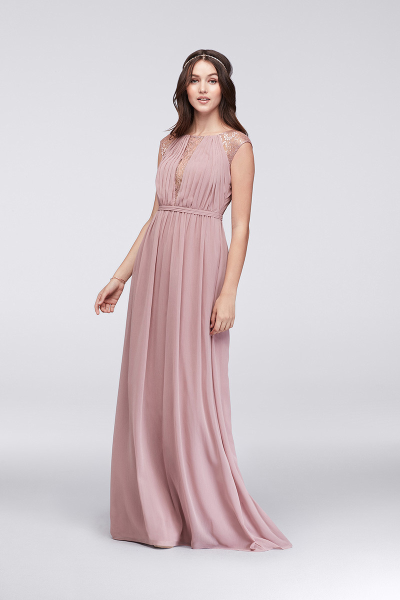 David 39 s bridal f19578 sheath bridesmaid dress by david 39 s for David bridal rental wedding dresses
