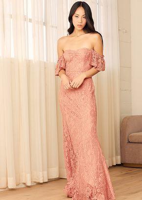 Adoring Hearts Rusty Rose Lace Off-the-Shoulder Maxi Dress, 4415