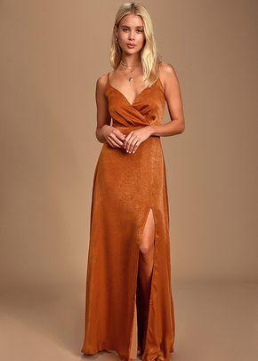 Constantine Rust Orange Satin Maxi Dress, 4415