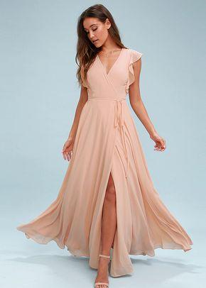 Crescendo Blush Wrap Maxi Dress, 4415
