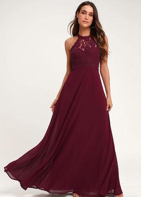 Dance All Evening Burgundy Lace Maxi Dress, 4415