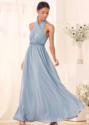 Don't Let Go Slate Blue Halter Maxi Dress, 4415