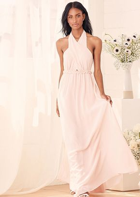 Don't Let Go True Blush Halter Maxi Dress, 4415