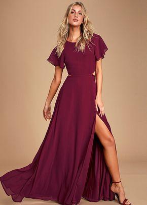 Garden Bliss Burgundy Cutout Maxi Dress, 4415