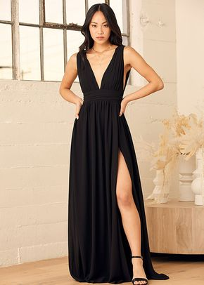 Heavenly Hues Black Maxi Dress, 4415