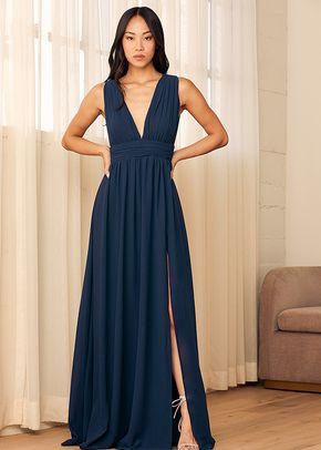 Heavenly Hues Navy Blue Maxi Dress, Lulus Bridesmaid