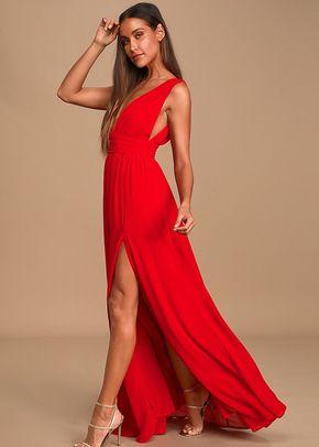 Heavenly Hues Red Maxi Dress, 4415