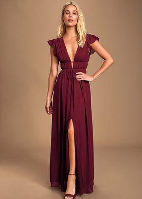 I'm All Yours Burgundy Ruffled Maxi Dress, 4415
