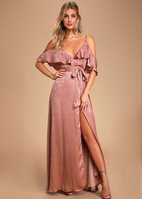 Moriah Rose Satin Wrap Maxi Dress, 4415