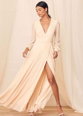 My Whole Heart Cream Long Sleeve Wrap Maxi Dress, 4415
