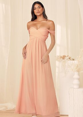 Romantic Splendor True Blush Off-The-Shoulder Maxi Dress, 4415