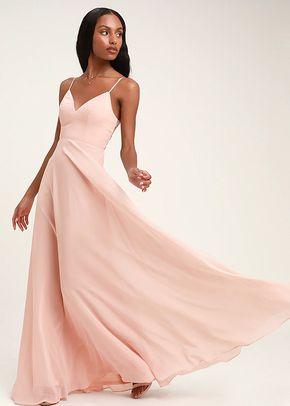 Romantic Ways Blush Pink Lace Button Back Maxi Dress, 4415