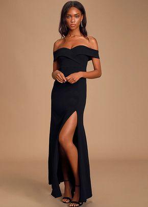 Song of Love Black Off-the-Shoulder Maxi Dress, 4415