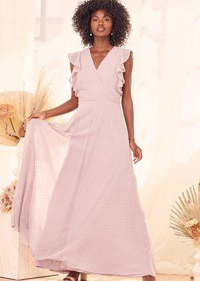 Sweetest Forever Lilac Swiss Dot Surplice Ruffled Maxi Dress, 4415