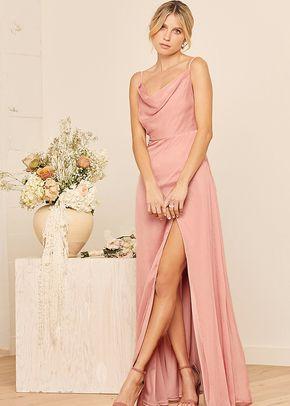 Until Then Dusty Pink Cowl Neck Maxi Dress, Lulus Bridesmaid