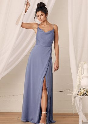 Until Then Light Blue Cowl Neck Maxi Dress, Lulus Bridesmaid
