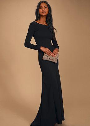 Wait For Me Black Long Sleeve Maxi Dress, 4415