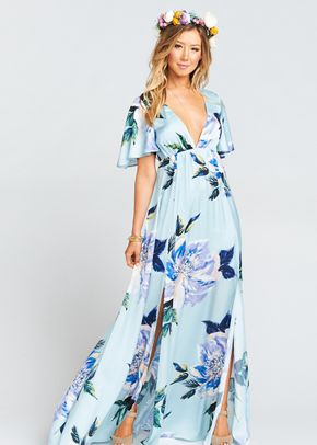 Faye Flutter Maxi Dress - Mint to Be Floral, Show Me Your Mumu