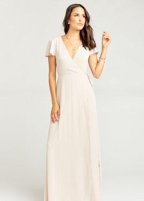 Emily Maxi Dress Merlot Chiffon A Line Bridesmaid Dress